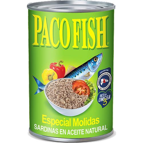 Paco Fish Sardinas Molidas en Aceite Natural 15 oz.