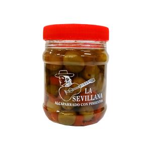 Alcaparrado con Pimientos La Sevillana 8oz.