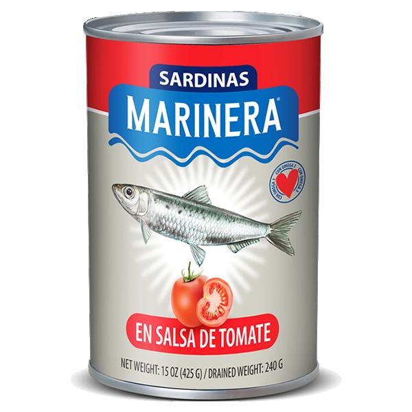 Sardinas Tall en Salsa de Tomate 15oz. Marinera