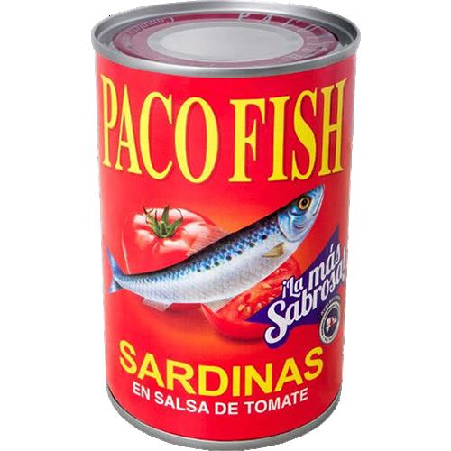 Paco Fish Sardinas en Salsa de Tomate 15 oz.