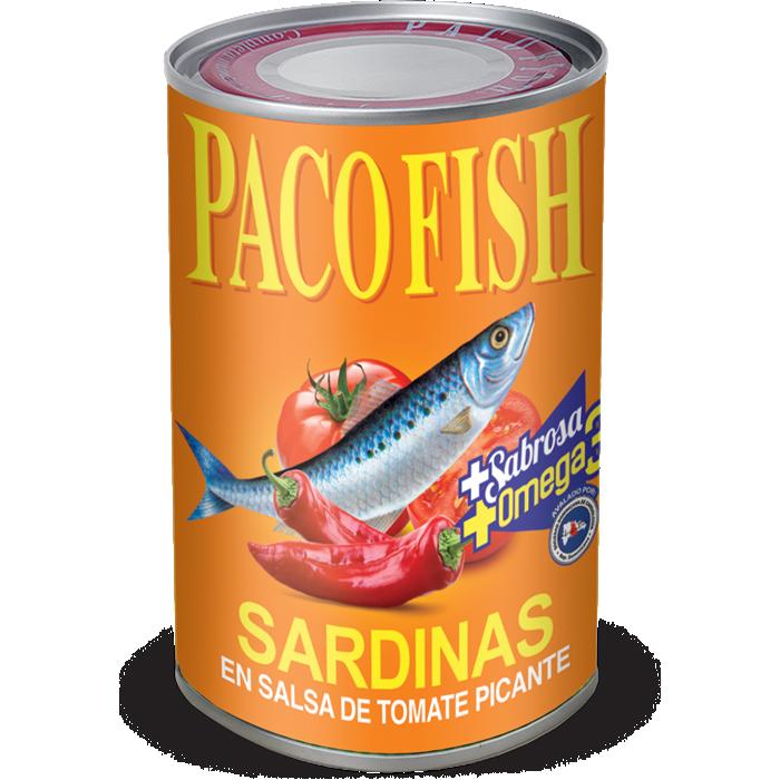 Paco Fish Sardinas en Salsa de Tomate Picante 15 oz.